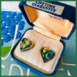 Heart Earring with Gold Accent